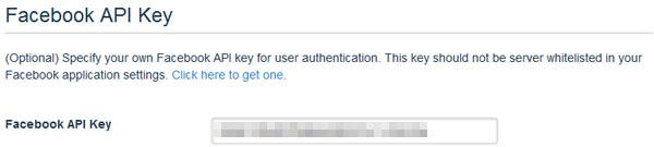 DISQUS サイトの設定 Facebook API Key